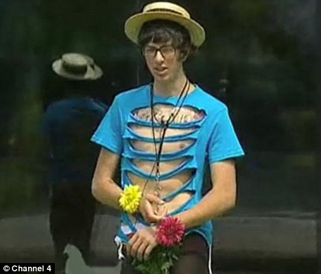 Big Brother 2010 New housemate Sam forced to wear outrageous clothes as his suitcase is taken away for task 1